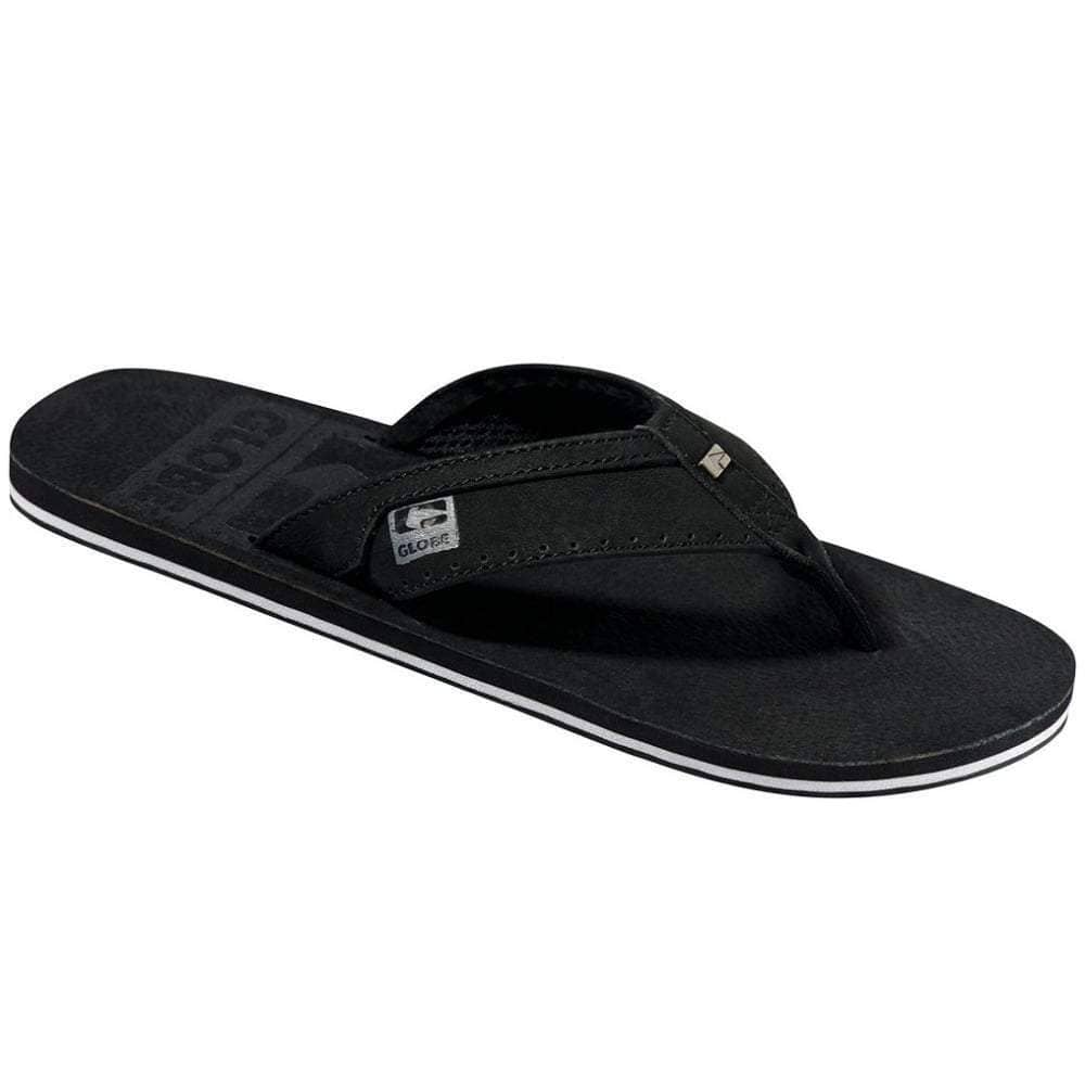 Globe Base Sandals in Black Mens Flip Flops by Globe
