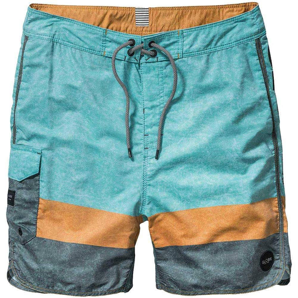 Globe Boys Blocker Boardshorts in Washed Mint Boys Boardshorts by Globe