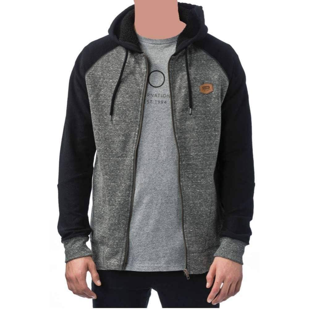 Globe Boys Fairhaven Zip Hoodie in Charcoal Marle Boys Zip Up Hoodie by Globe