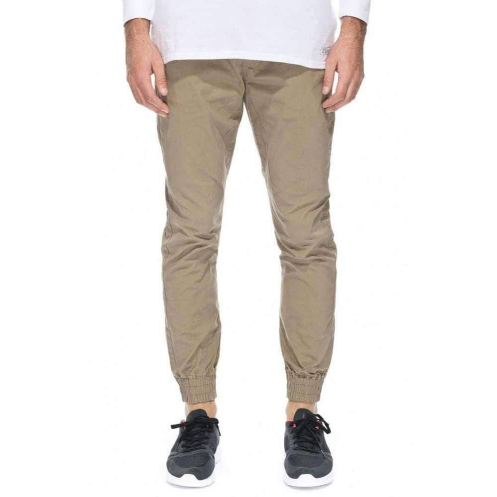 Globe Goodstock Jogger in Stone Mens Joggers by Globe