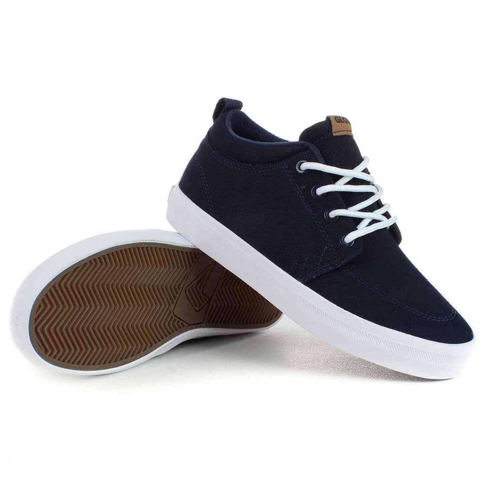Globe GS Chukka Kids Shoes in Navy White Boys High Top Trainers by Globe