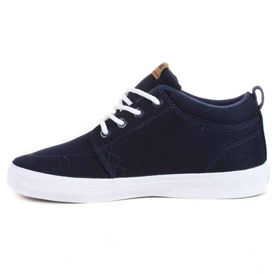 Globe Boys High Top Trainers Globe GS Chukka Kids Shoes in Navy White