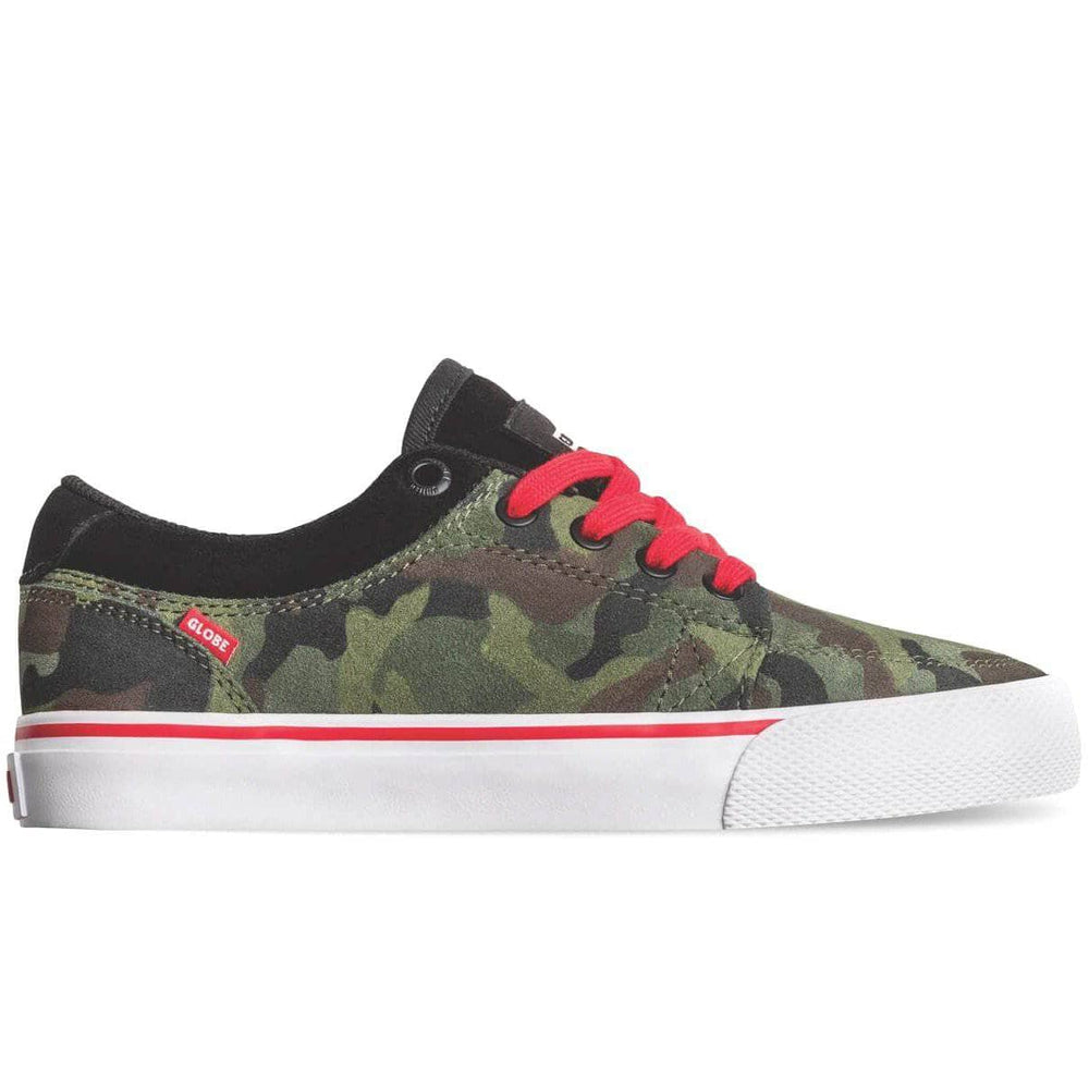 Globe GS Kids Skate Shoes - Green Camo Boys Skate Shoes by Globe