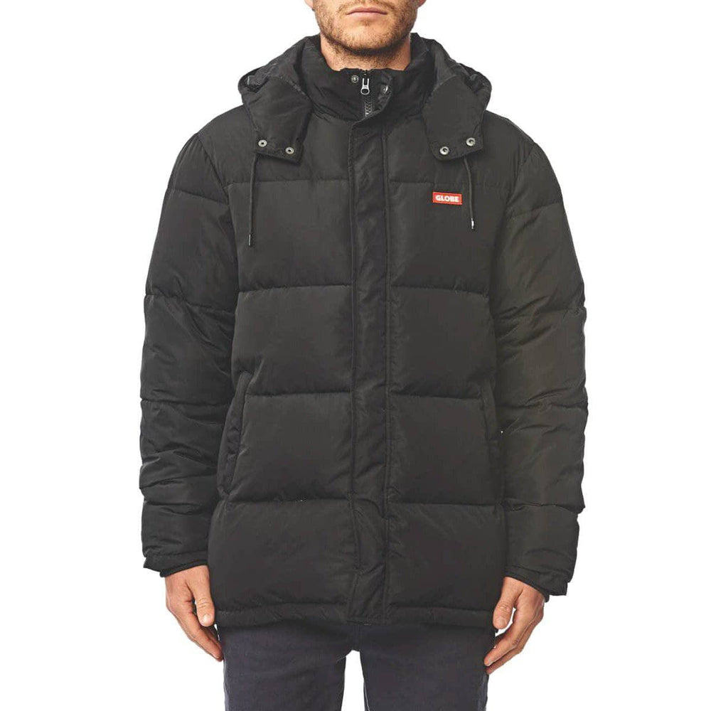 Globe Ignite Puffer Jacket - Black Mens Insulated Jacket by Globe