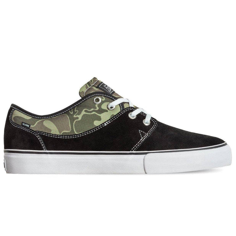 Globe Mahalo Skate Shoes - Black Green Camo Mens Casual Shoes by Globe