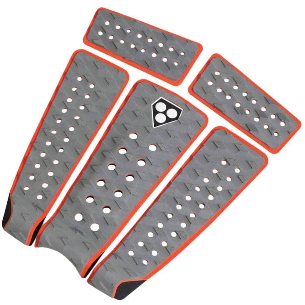 Gorilla Campaign Charcoal/Orange Tail Pad Surfboard Grip 5+ Piece Tail Pad by Gorilla Surf