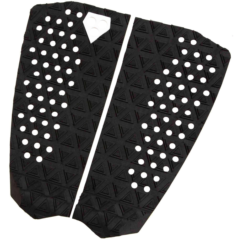 Gorilla Dos Black Surfboard Tail Pad 2 Piece Tail Pad by Gorilla Surf