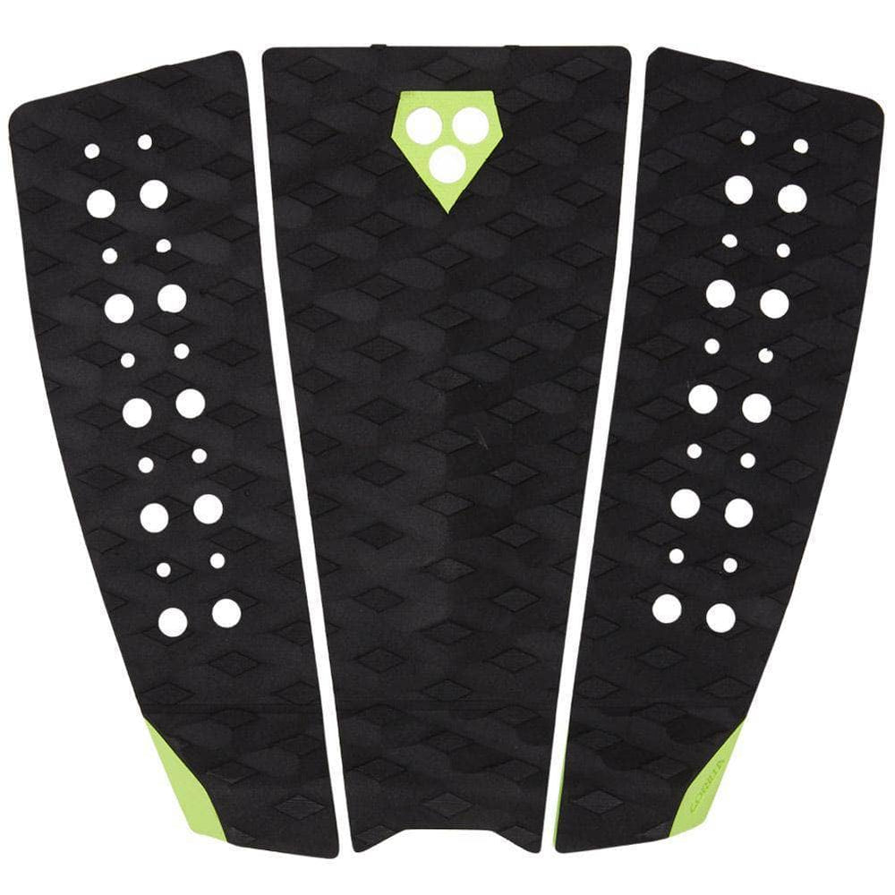 Gorilla Surf Phat 3 Tail Pad Surfboard Deck Grip - Black Acid 3 Piece Tail Pad by Gorilla Surf O/S (one size)
