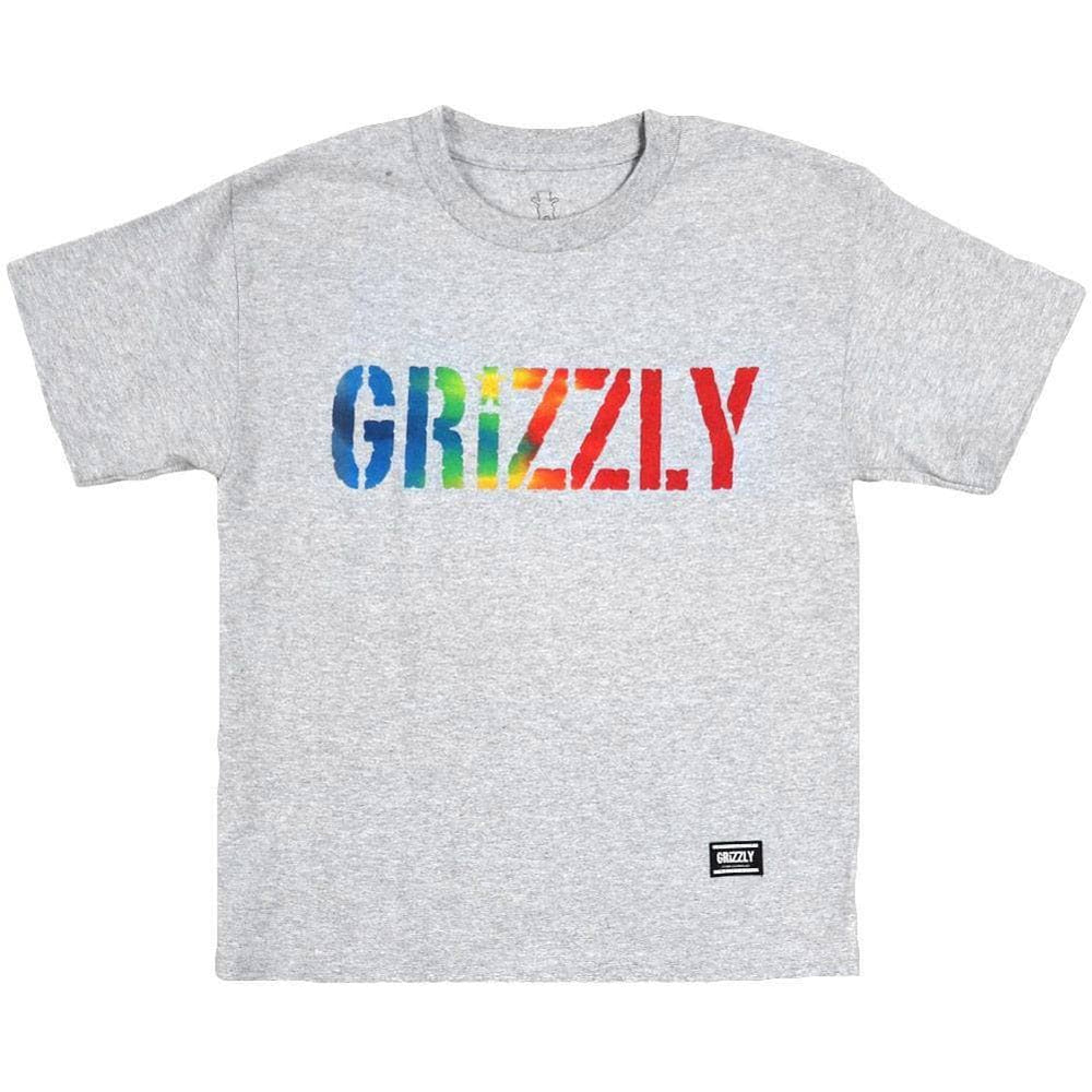 Grizzly Acid Test Cubs Youth T-Shirt - Heather Grey Boys Skate Brand T-Shirt by Grizzly