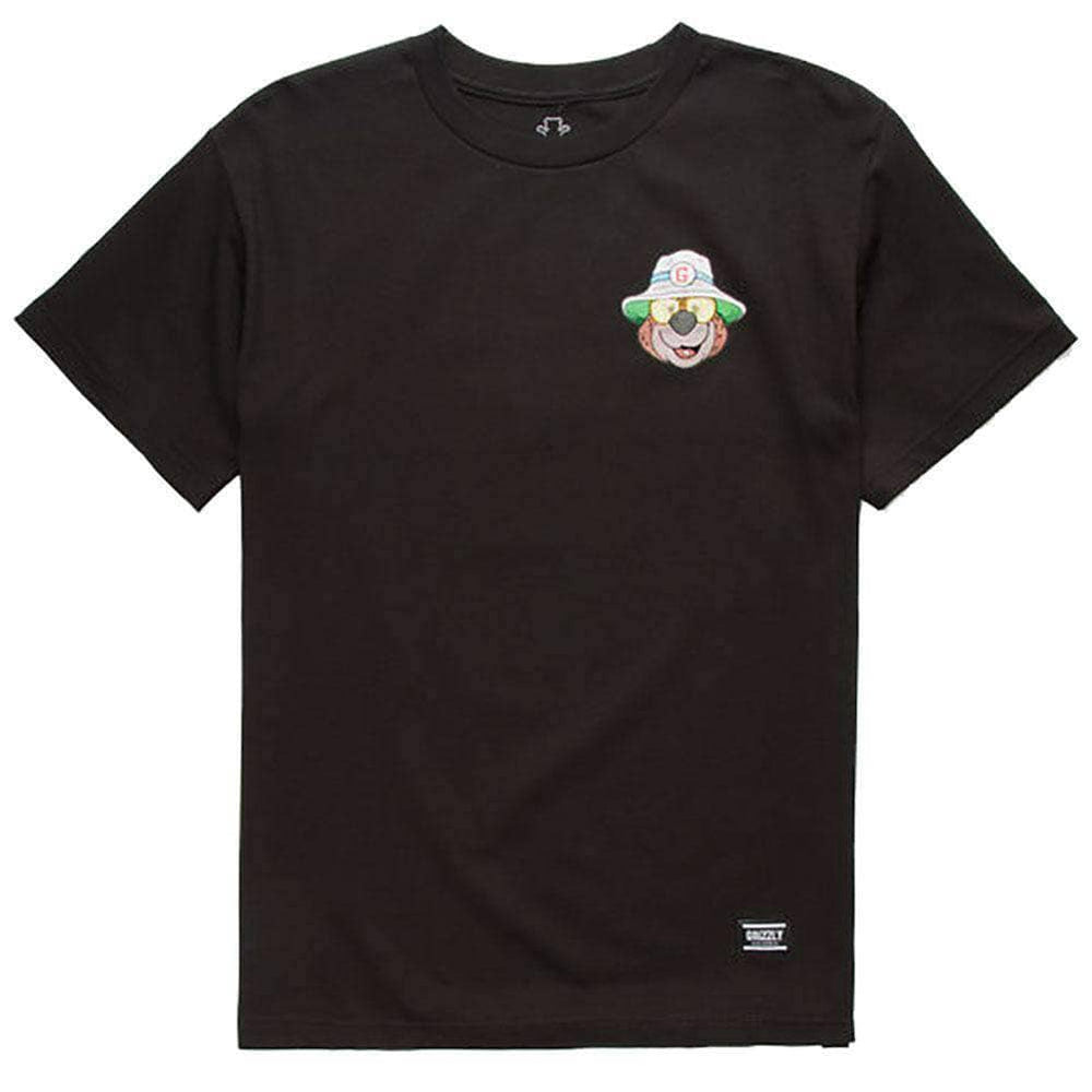 Grizzly Bear & Loathing S/S Tee in Black Black Mens Skate Brand T-Shirt by Grizzly