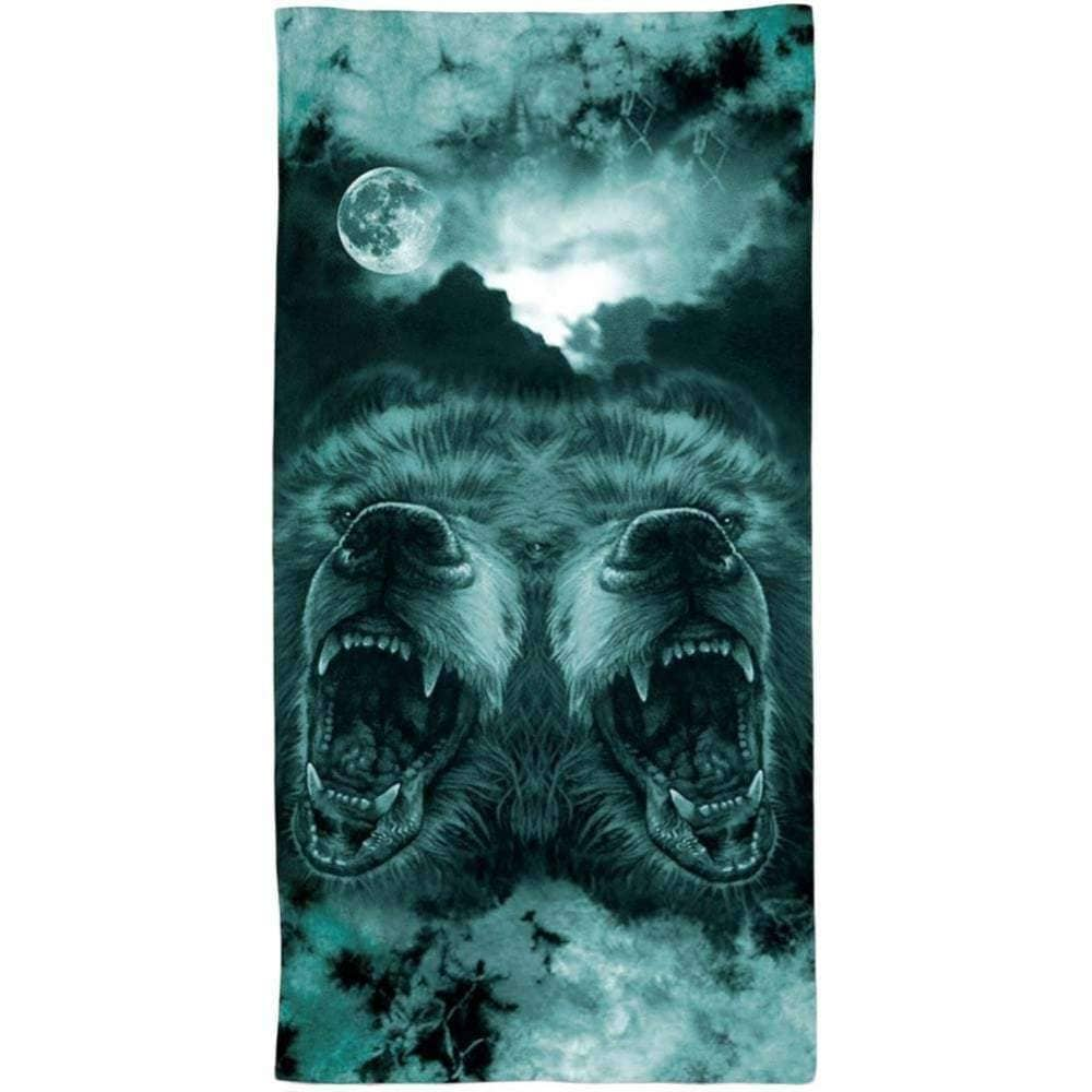 Grizzly Griptape Roar At The Moon Towel Beach Towel by Grizzly