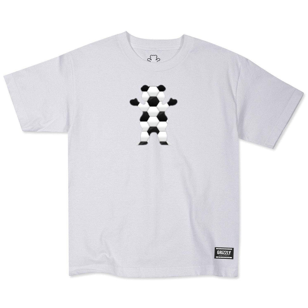Grizzly Youth Sports Pack Bear S/S T-Shirt - White Boys Skate Brand T-Shirt by Grizzly