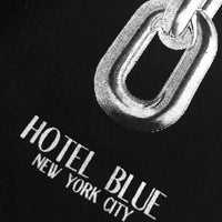 Hotel Blue Chain L/S T-Shirt in Black Mens Plain T-Shirt by Hotel Blue