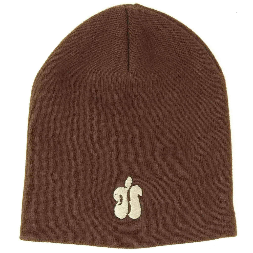 Hubba H Beanie Hat Basic Beanie Hat by Hubba Brown / O/S (one size)