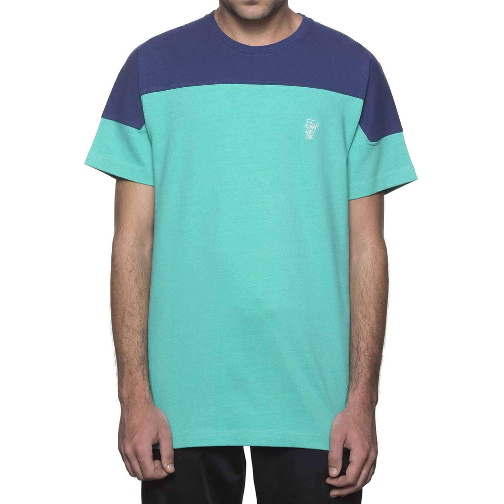 Huf Camino Knit in Bright Aqua Bright Aqua Mens Plain T-Shirt by Huf