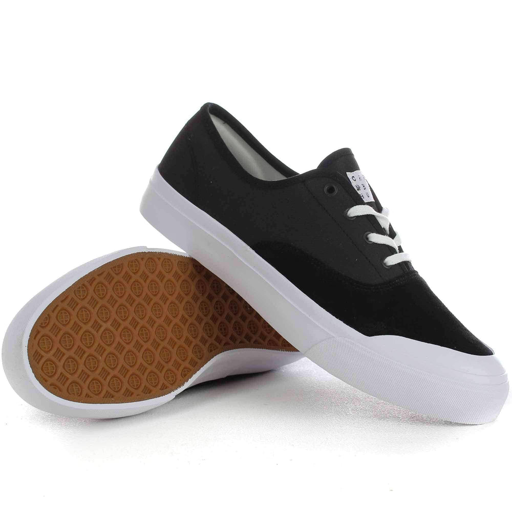 HUF Cromer Shoes in Black Tuff Mens Skate Shoes by Huf