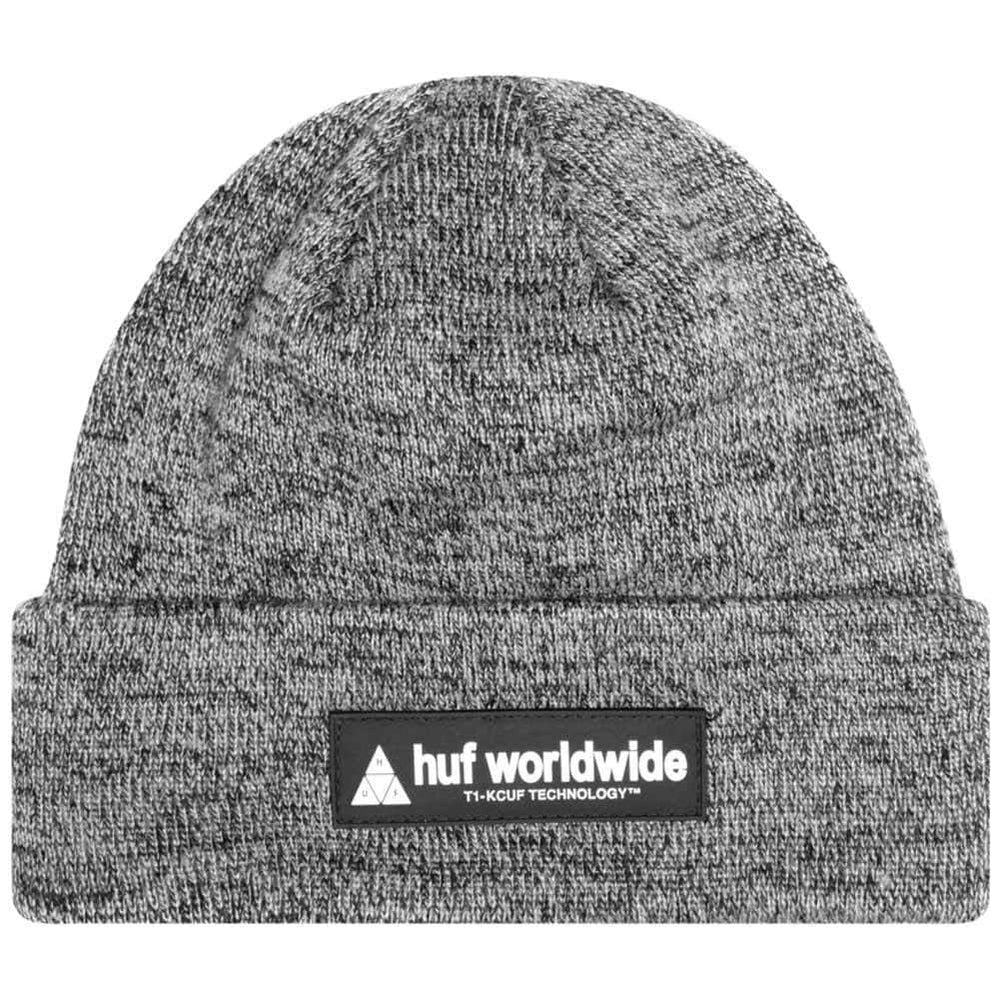 Huf Nystrom Beanie Black O/S (one size) Fold Beanie Hat by Huf