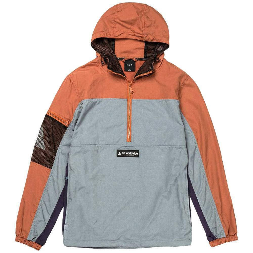 Huf Nystrom Packable Jacket - Rust Mens Windbreaker/Rain Jacket by Huf