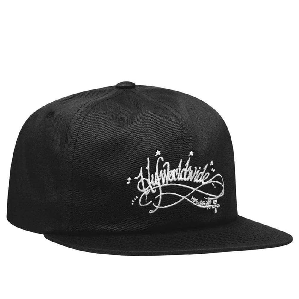Huf Strapback Cap Huf OG Harry 6 Panel Hat Black O/S (one size)