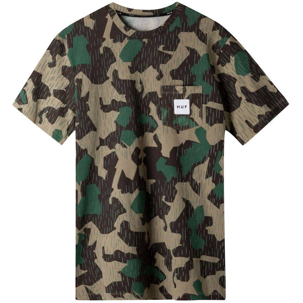Huf Splinter Camo Pocket T-Shirt - Camo Mens Pocket T-Shirt by Huf