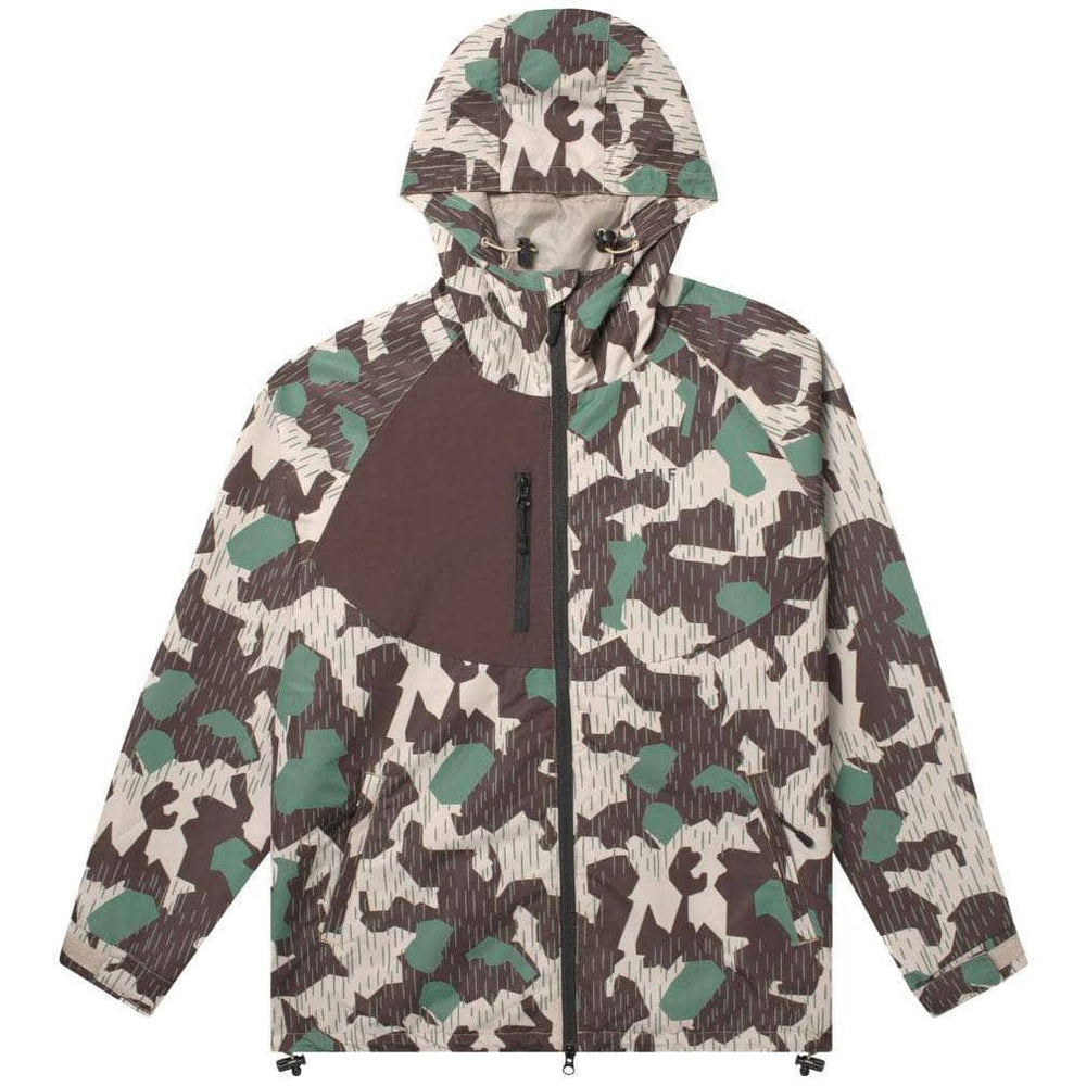 Huf Standard Shell 2 Jacket - Camo Mens Windbreaker/Rain Jacket by Huf