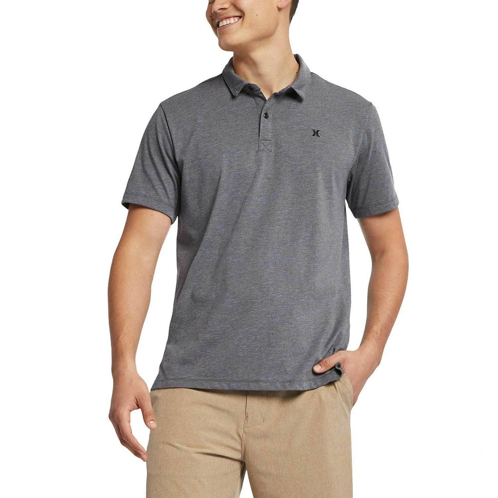 Hurley Dri-Fit Coronado Polo Shirt - Dark Charcoal Heather Mens Polo Shirt by Hurley