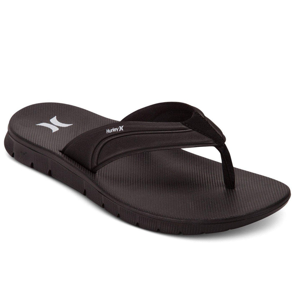 Hurley Fusion 2.0 Sandals - Black Mens Flip Flops by Hurley