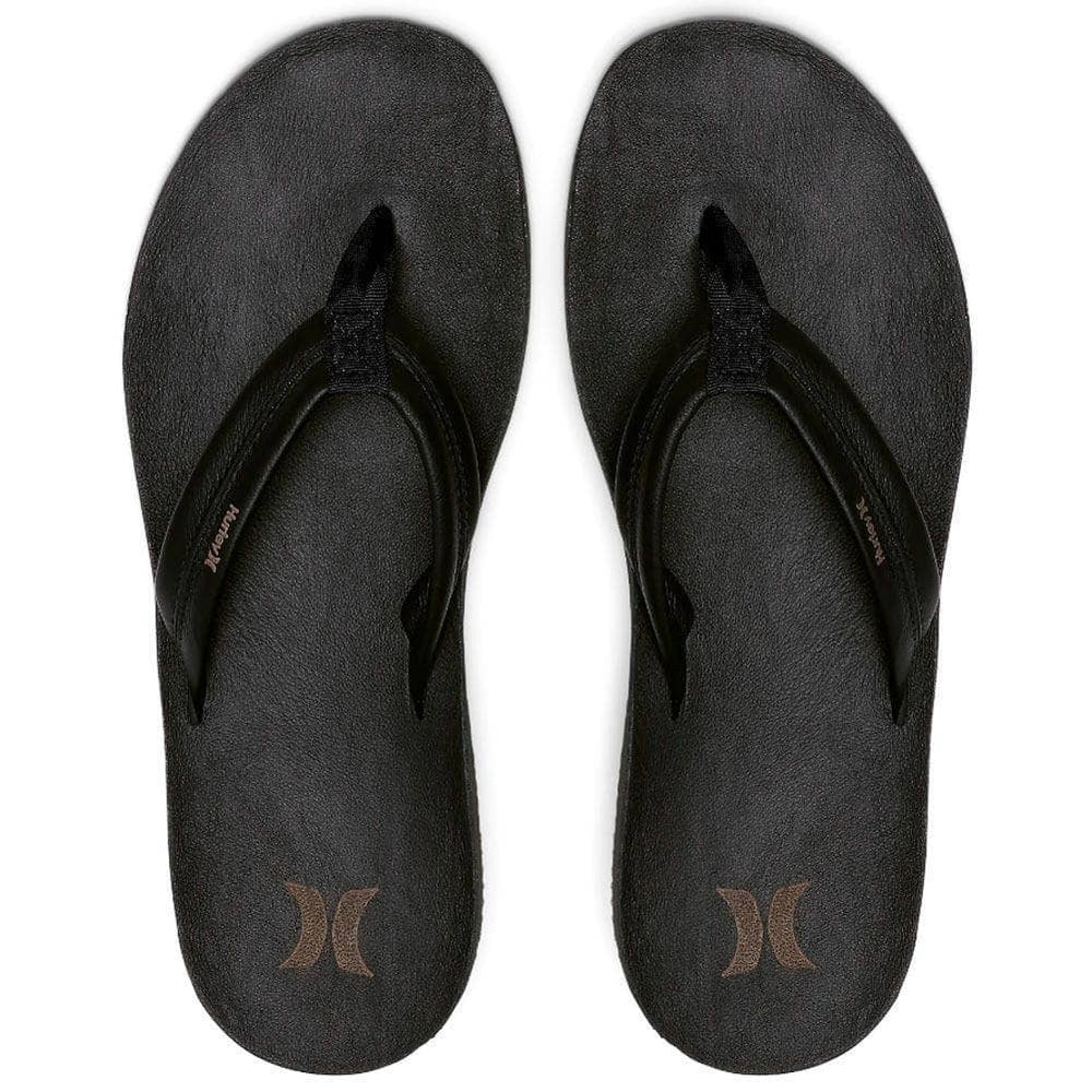 Hurley JJF Lunar Sandals - Black Mens Flip Flops by Hurley