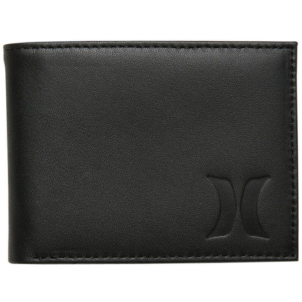 Hurley Mens Wallet Hurley One & Only Leather Wallet Black N/A