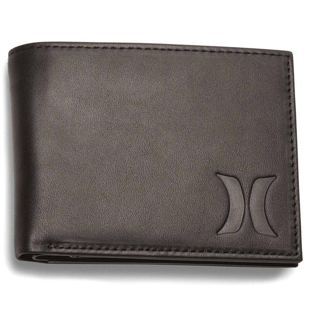 Hurley One & Only Leather Wallet Velvet Brown N/A Mens Wallet by Hurley