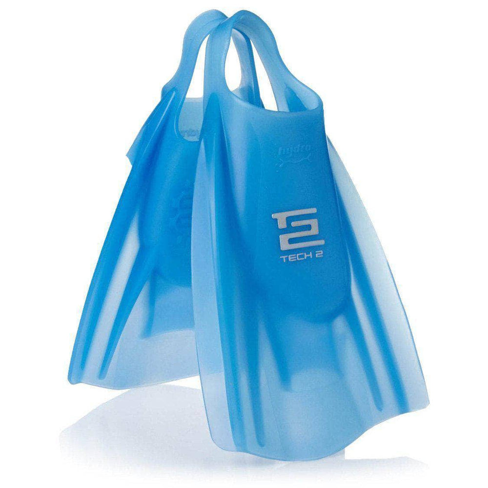 Hydro Tech 2 Fins in Ice Blue Ice Blue Bodyboard Flippers/Swim Fins by Hydro