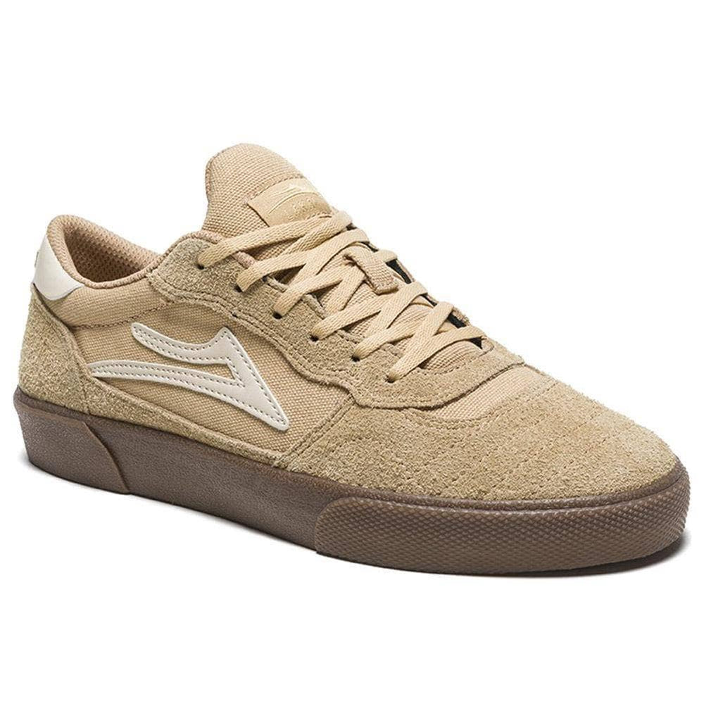 Lakai Cambridge Skate Shoes - Tan Cream Suede Mens Skate Shoes by Lakai