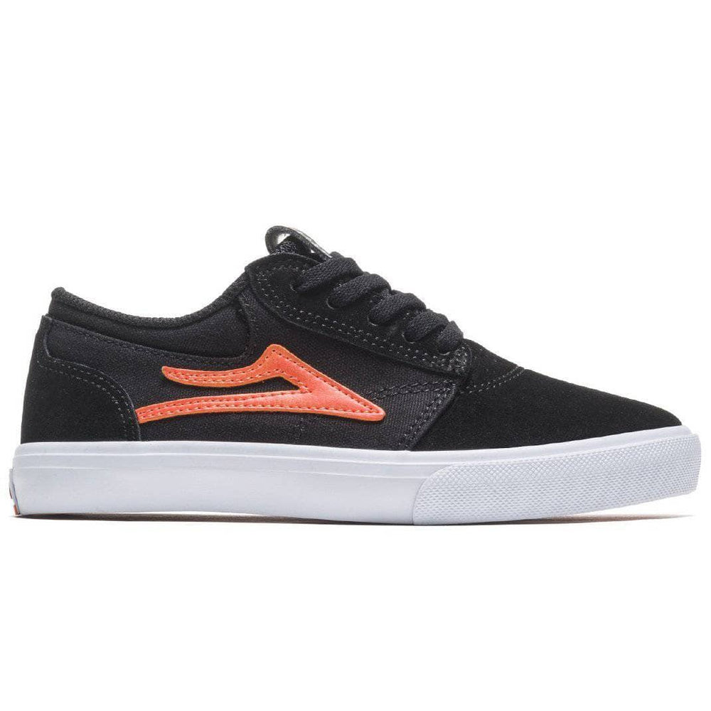 Lakai Griffin Kids Skate Shoes - Black Orange Suede Boys Skate Shoes by Lakai