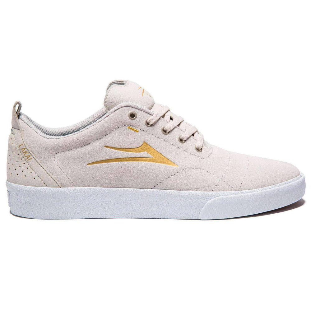 Lakai Lakai Bristol Shoes in White Gold Gold Mens Skate Shoes by Lakai