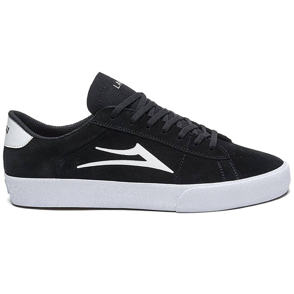 Lakai Newport Skate Shoes - Black/White Suede Mens Skate Shoes by Lakai