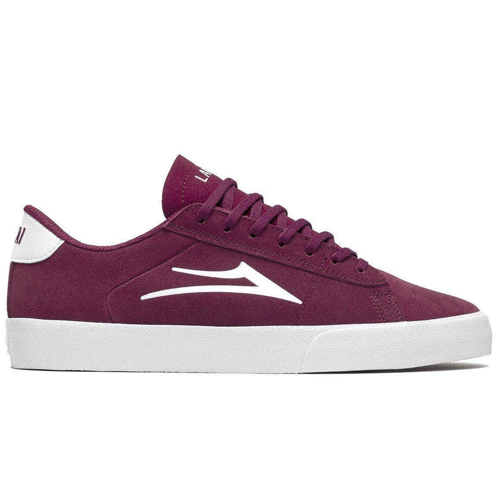 Lakai Newport Skate Shoes - Burgundy Suede Mens Skate Shoes by Lakai