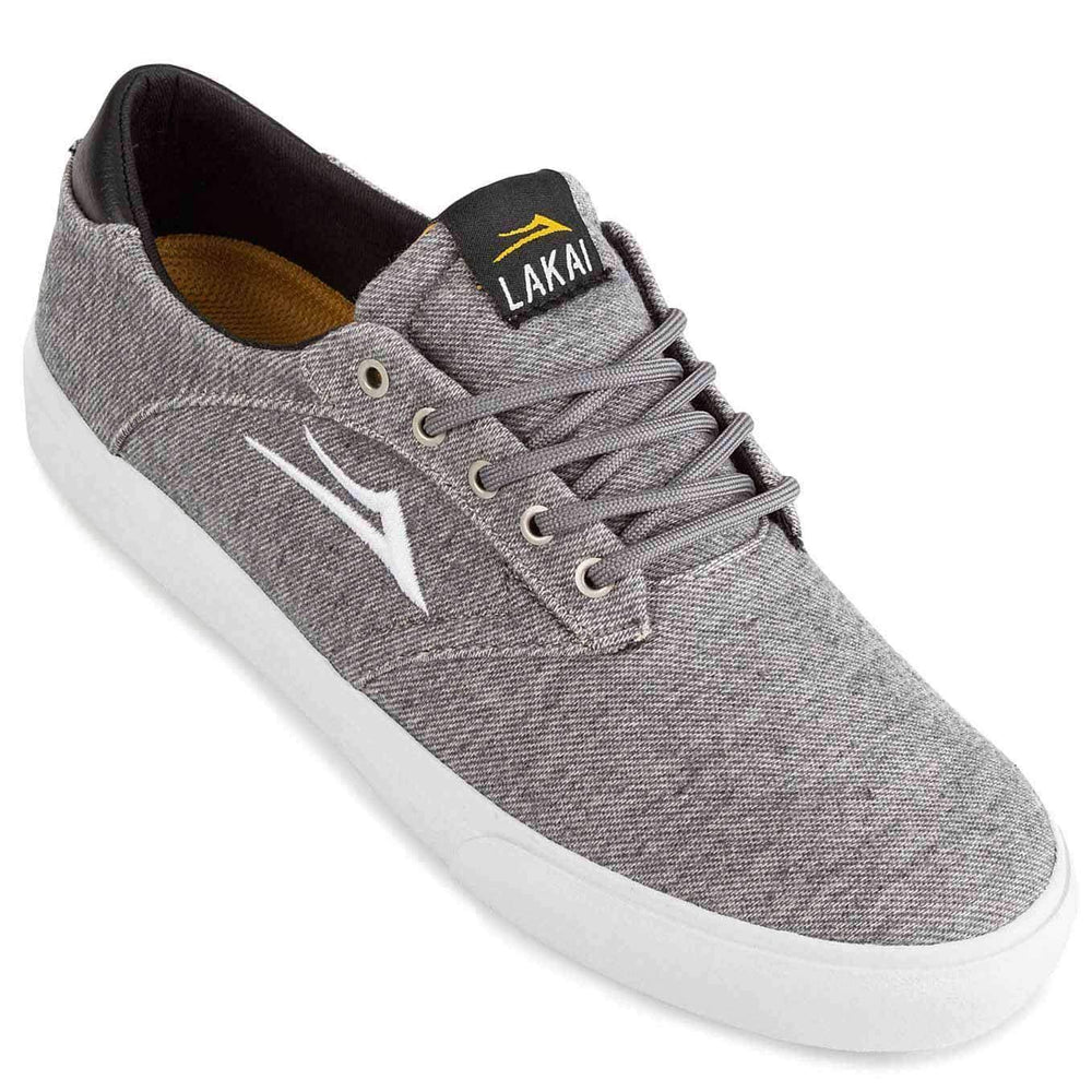 Lakai Porter Shoes - Grey Textile Mens Skate Shoes by Lakai