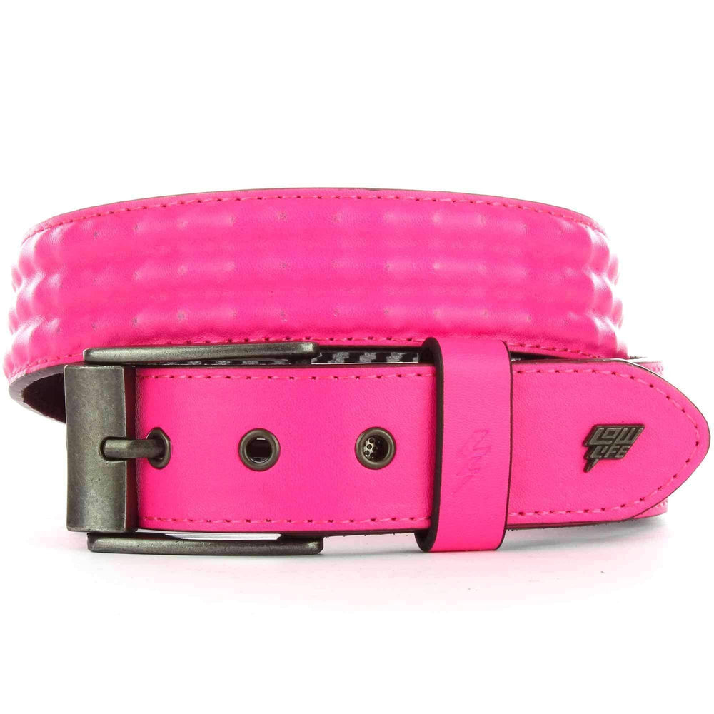 Lowlife Cover Up Belt in Neon Pink Mens Casual Belt by Lowlife