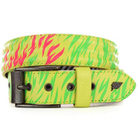 Lowlife Cover Up Belt in Neon Yellow Mens Casual Belt by Lowlife