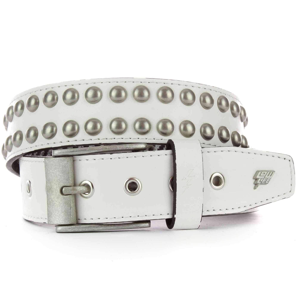 Lowlife Sphere Stud Belt in White Mens Casual Belt by Lowlife