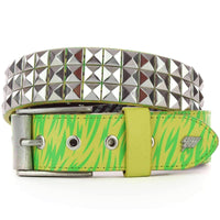 Lowlife Triple S Studded Belt in Neon Print Mens Casual Belt by Lowlife