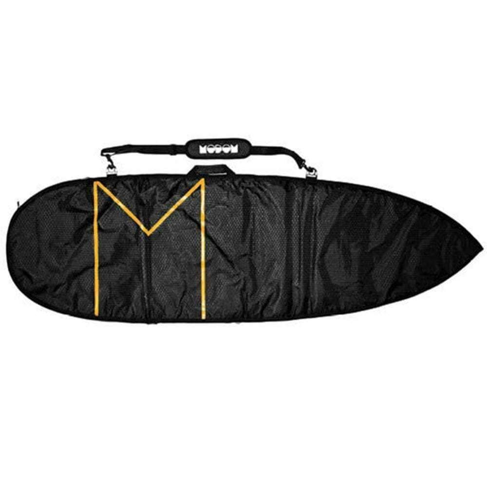 Modom 6'8 Streamliner 8mm Single Board Bag in Black Orange Surfboard Day Runner Bag/Cover by Modom 6ft 8in