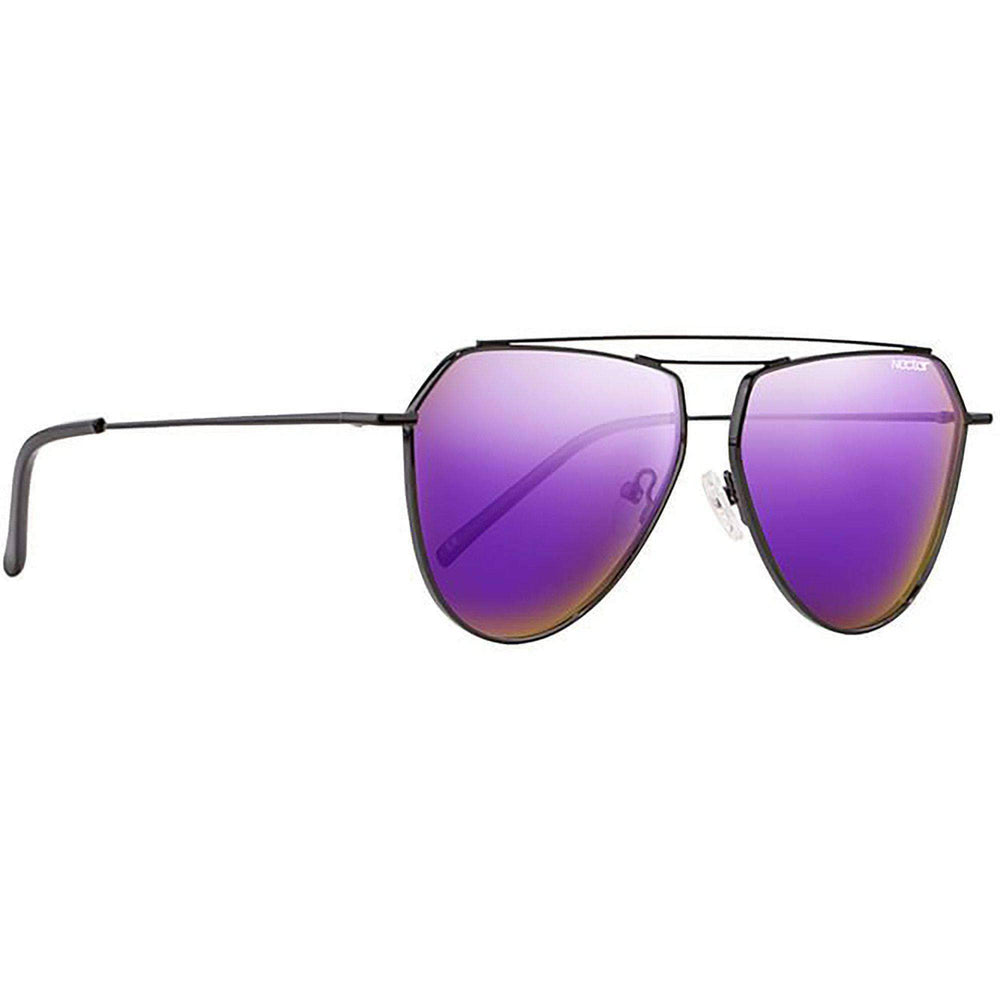 Nectar Iris Polarized Sunglasses in Black Purple Pilot Sunglasses by Nectar