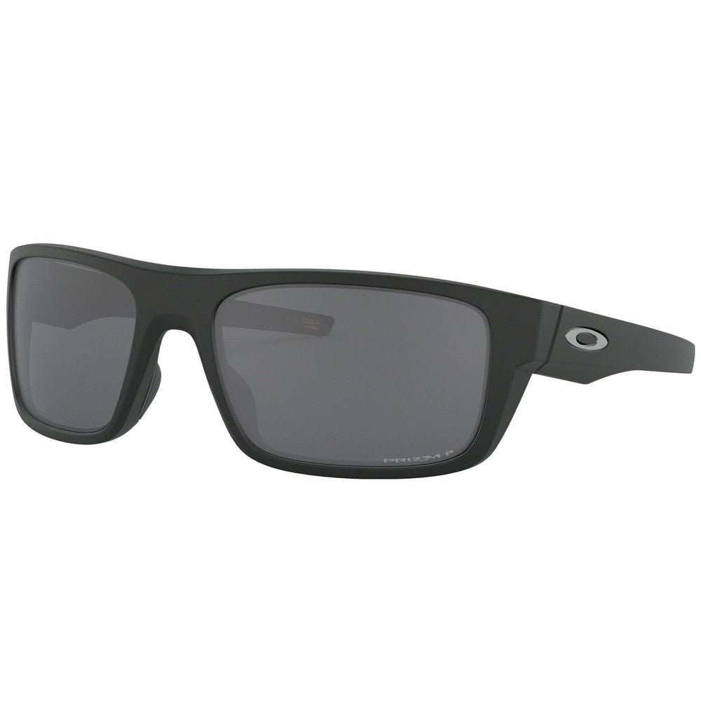 Oakley Drop Point Sunglasses Matte Black - Prizm Black Polarized Wrap Around Sunglasses by Oakley O/S (one size)