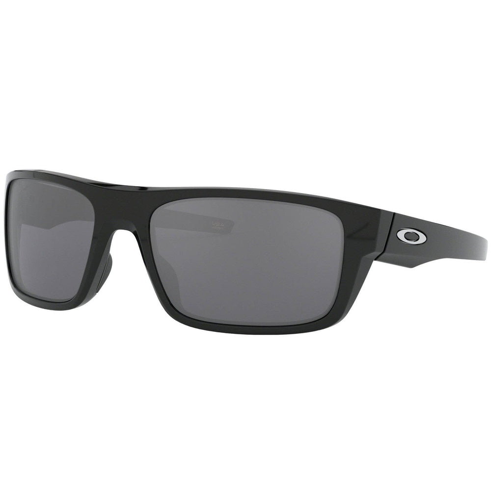 Oakley Drop Point Sunglasses Polished Black - Black Iridium Wrap Around Sunglasses by Oakley O/S (one size)