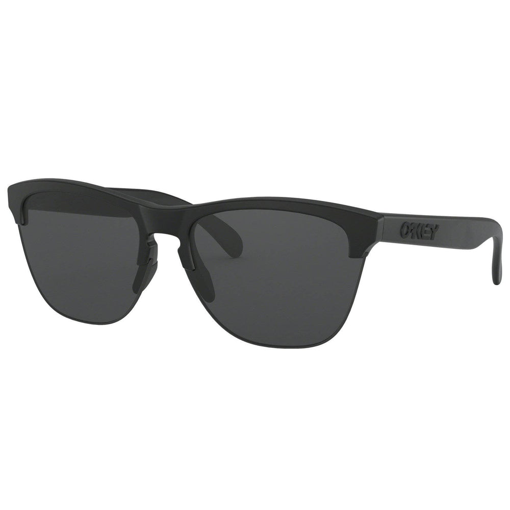 Oakley Frogskins Lite Sunglasses - Matte Black - Grey Round Sunglasses by Oakley O/S (one size)