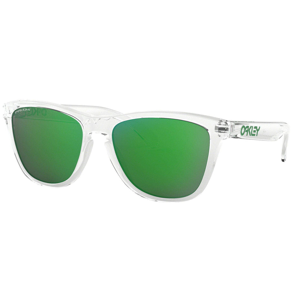 Oakley Frogskins Sunglasses - Crystal Clear - Prizm Jade Round Sunglasses by Oakley O/S (one size)