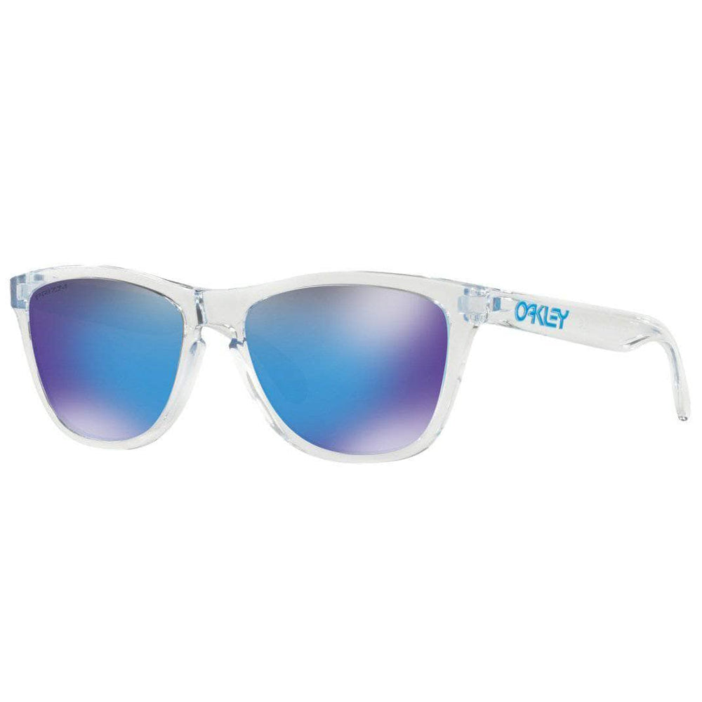 Oakley Frogskins Sunglasses - Crystal Clear - Prizm Sapphire Iridium Round Sunglasses by Oakley O/S (one size)