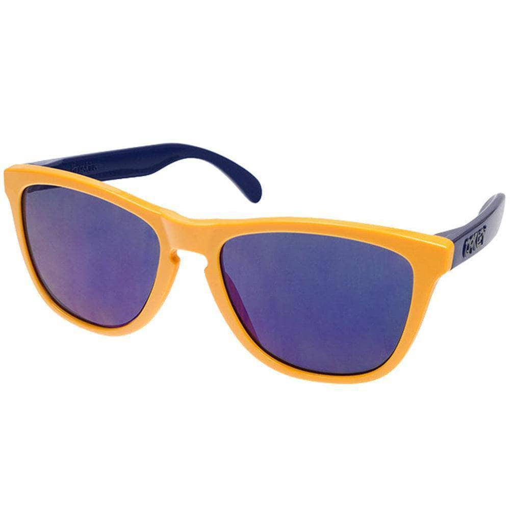 Oakley Frogskins Sunglasses - Drop Off - Blue Iridium Round Sunglasses by Oakley O/S (one size)