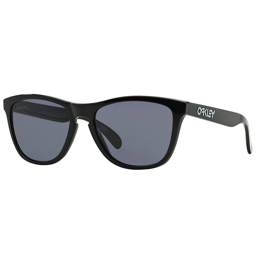 Oakley Frogskins Sunglasses - Polished Black - Grey Round Sunglasses by Oakley O/S (one size)
